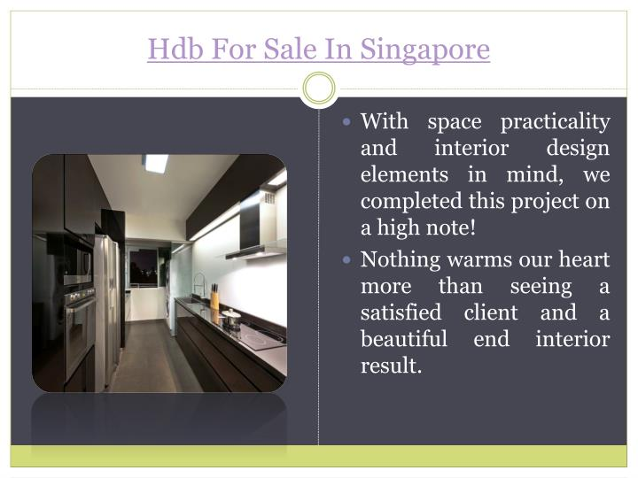 Hdb for sale in singapore