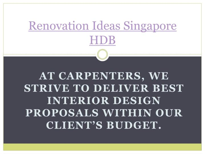 Renovation ideas singapore hdb