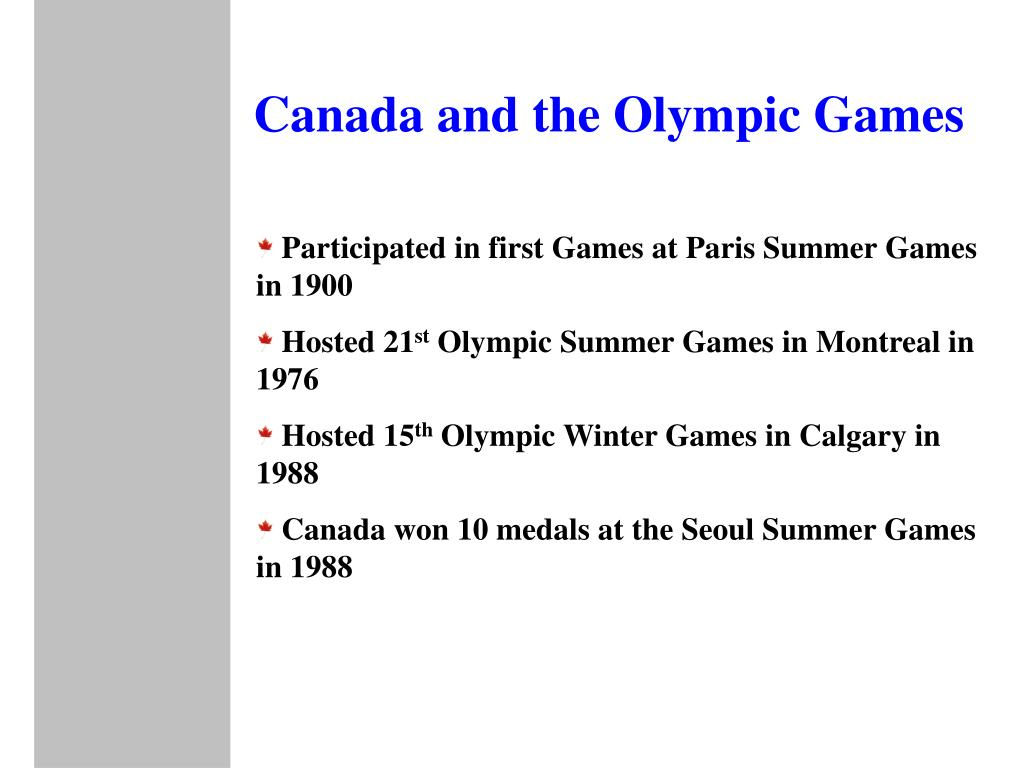 Canada and the Olympic Games