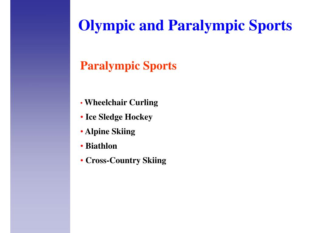 Olympic and Paralympic S