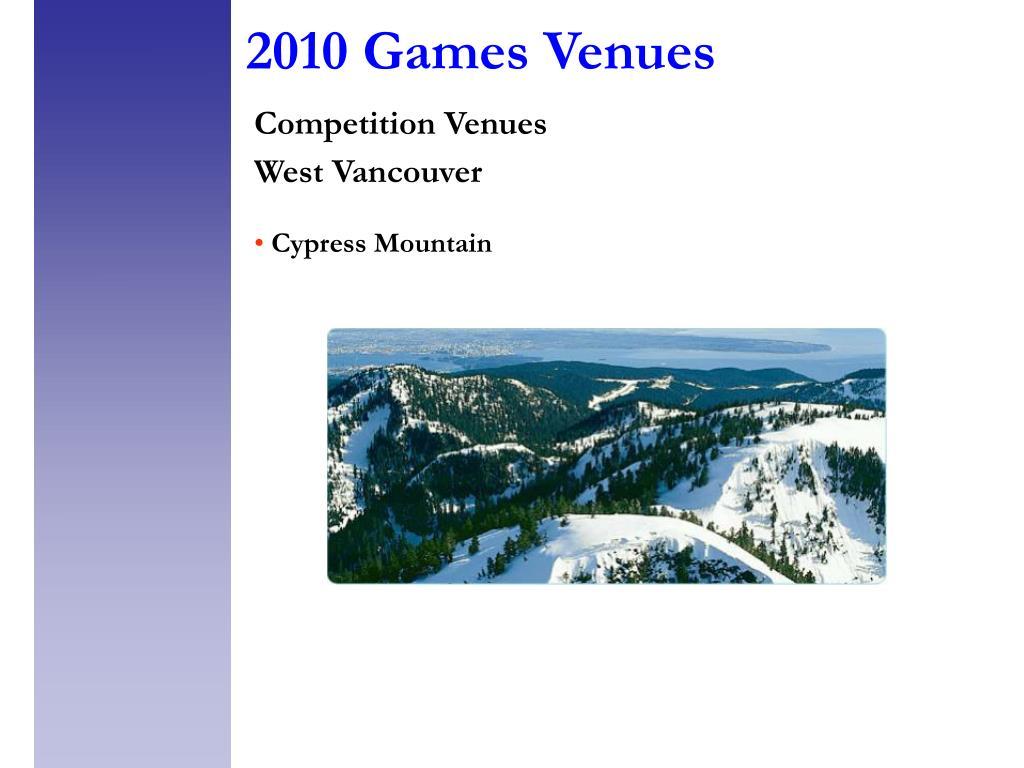 2010 Games Venues