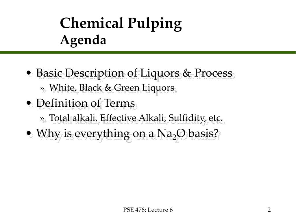 Chemical Pulping