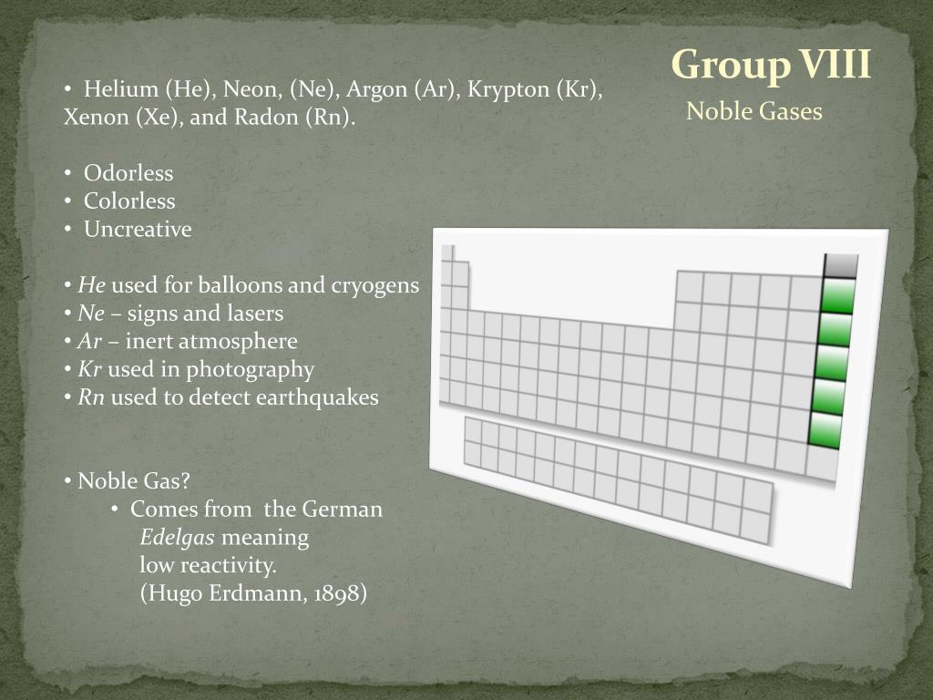Group VIII