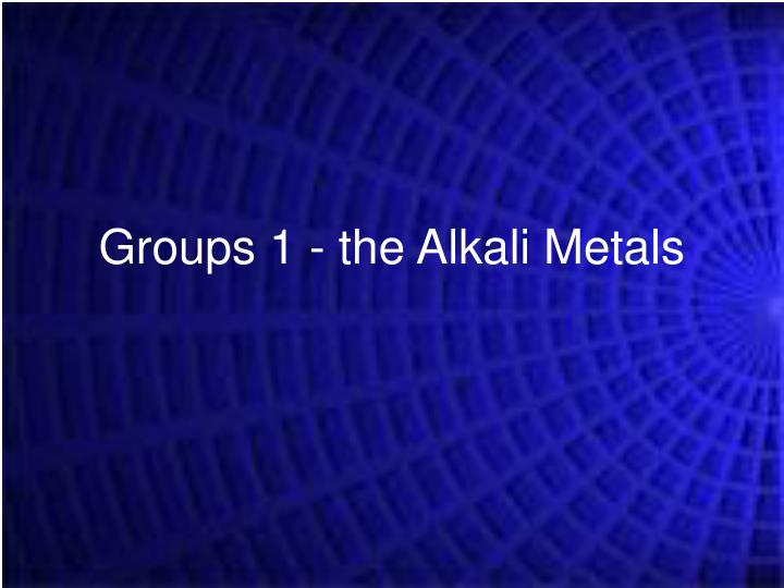 Groups 1 the alkali metals l.jpg