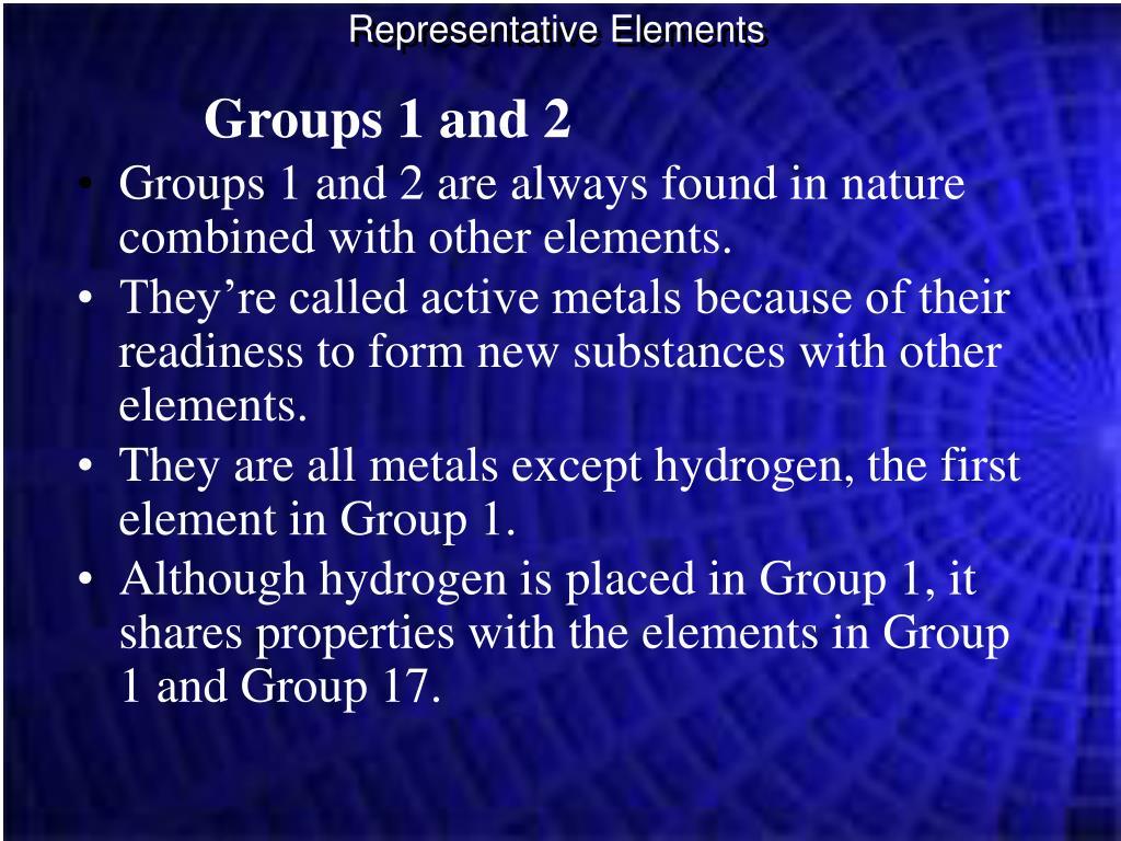 Representative Elements