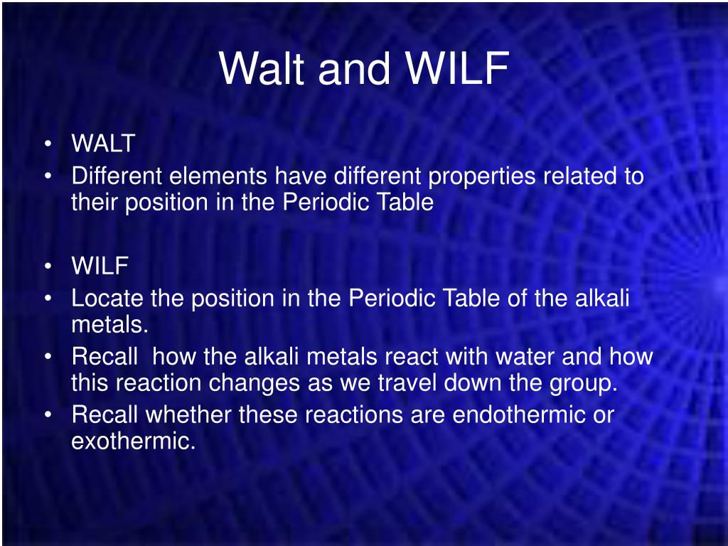 Walt and WILF