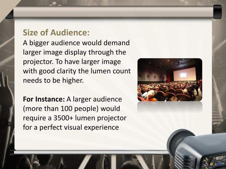 Size of Audience: