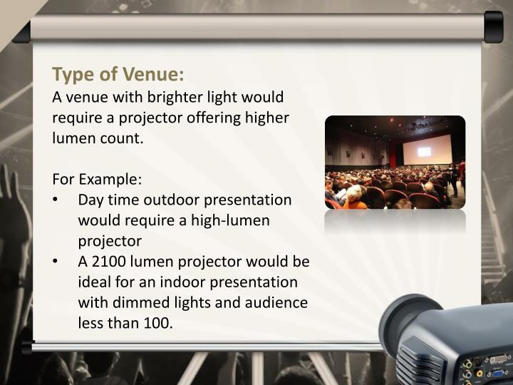 Type of Venue: