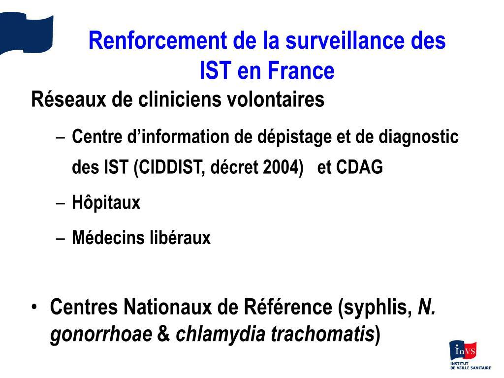 Renforcement de la surveillance des IST en France