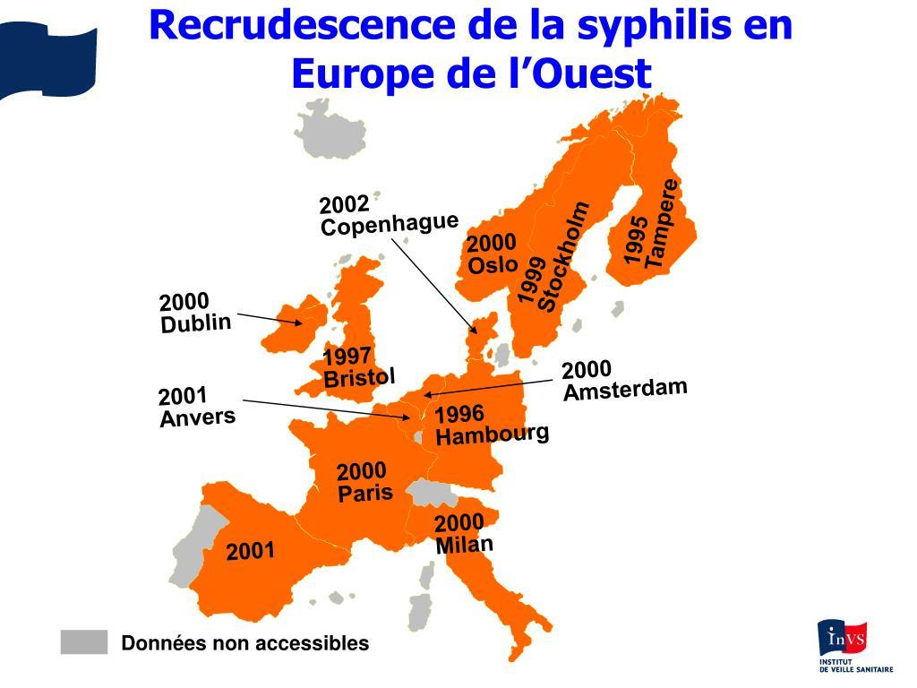 Recrudescence de la syphilis en Europe de l'Ouest