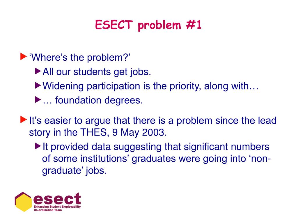 ESECT problem #1