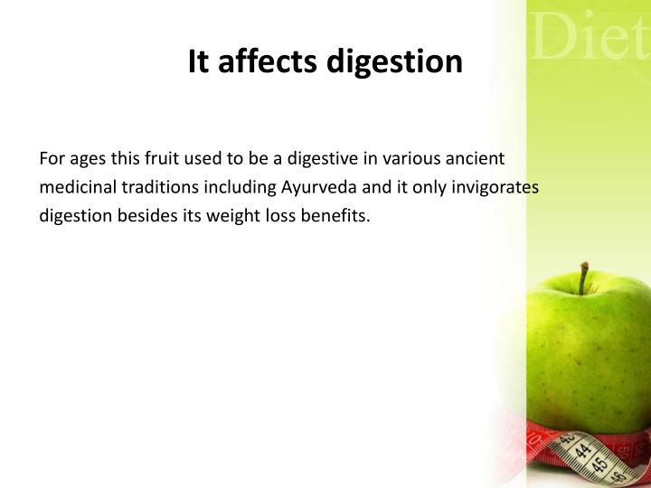 It affects digestion