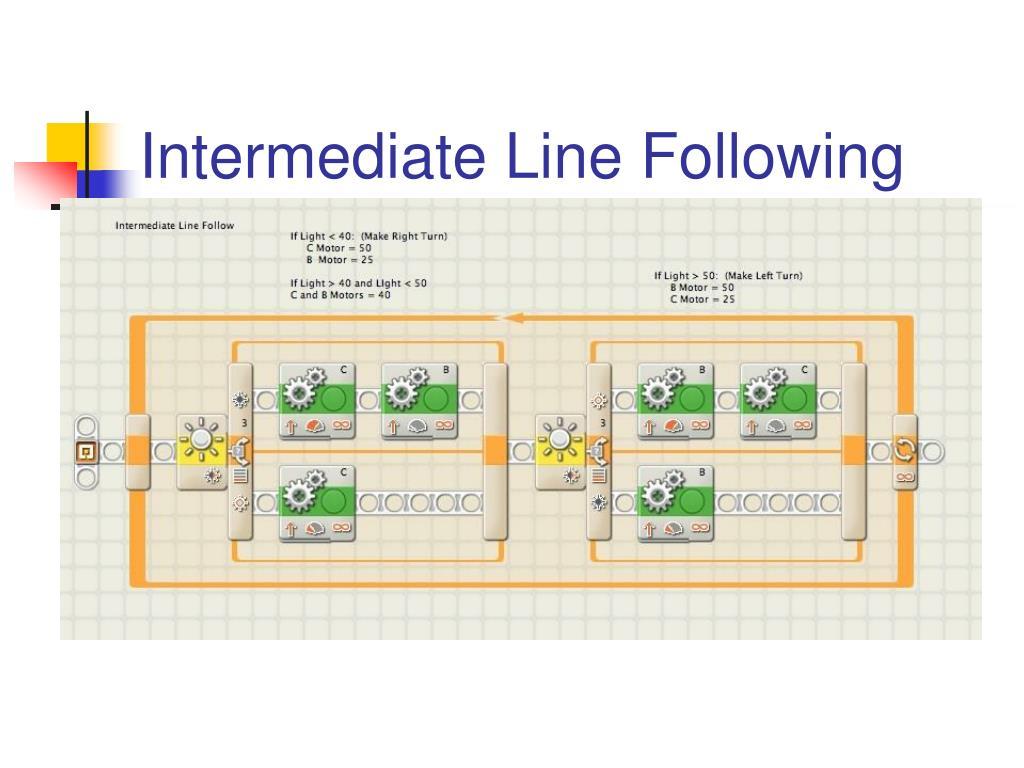 Intermediate Line Following