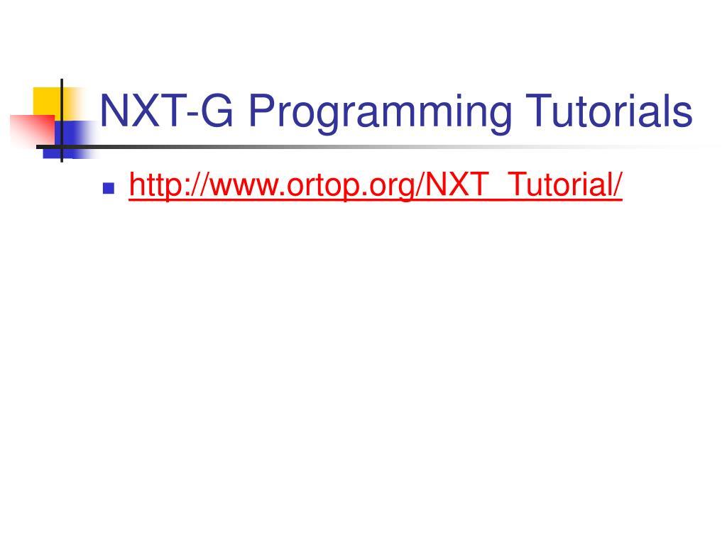 NXT-G Programming Tutorials