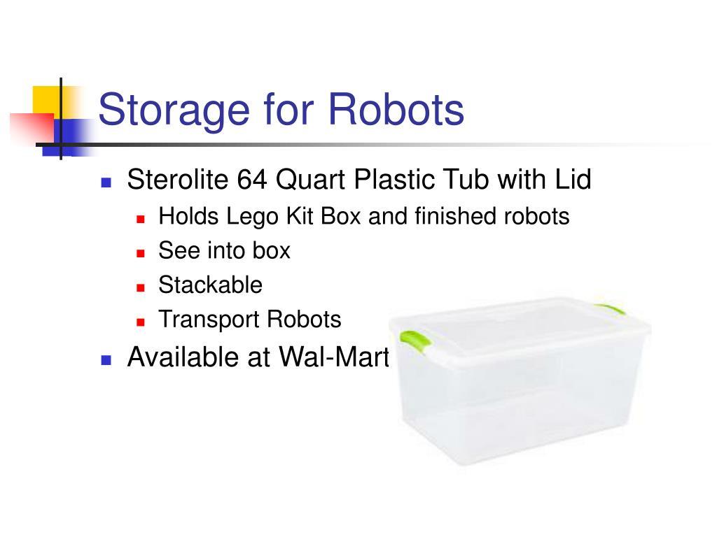 Storage for Robots