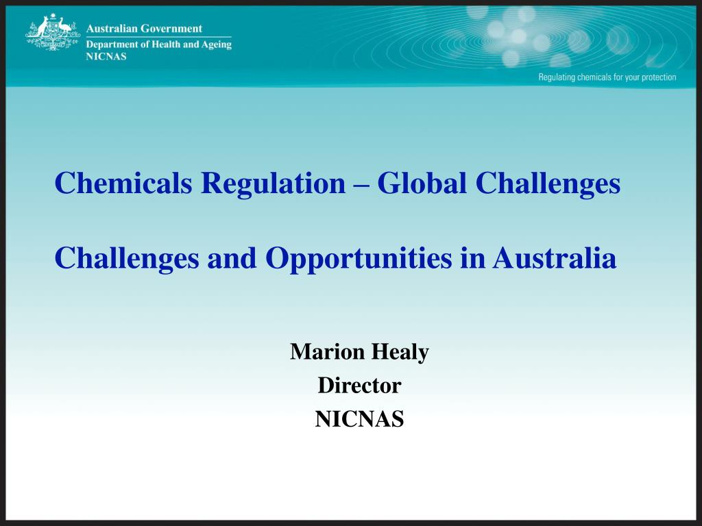 Chemicals Regulation – Global Challenges