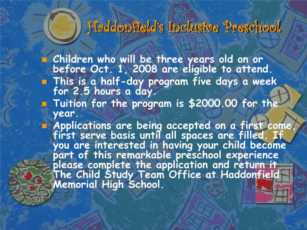 Haddonfield's Inclusive Preschool