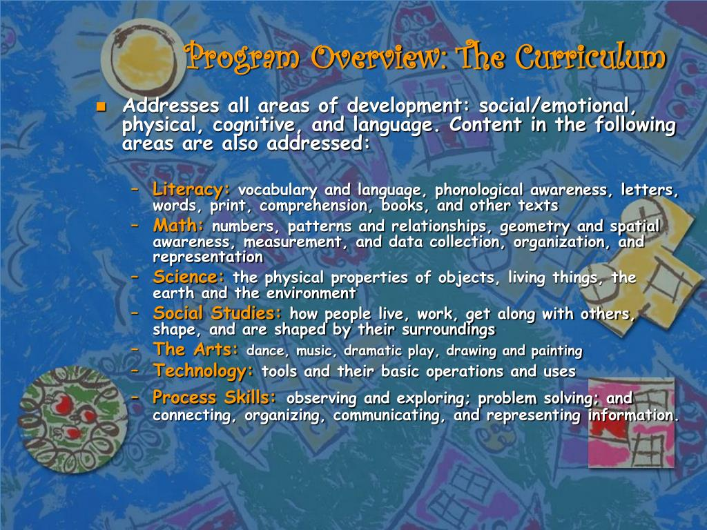 Program Overview: The Curriculum