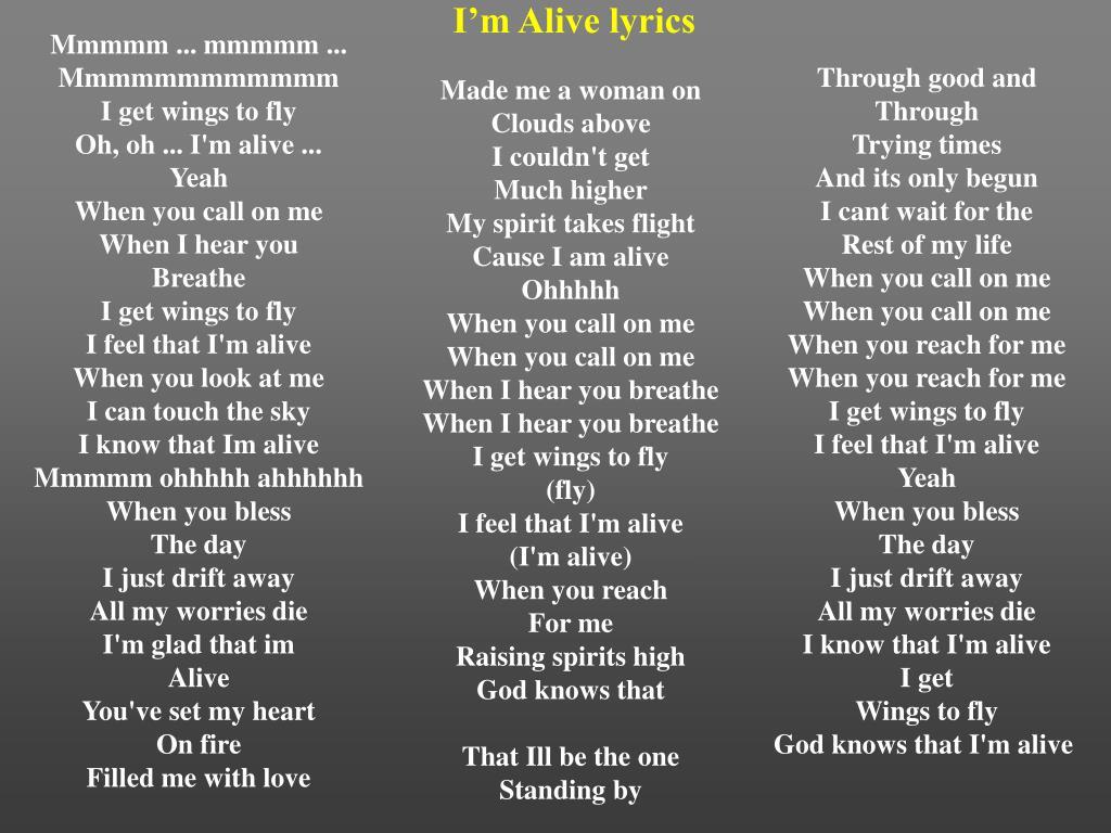 I'm Alive lyrics