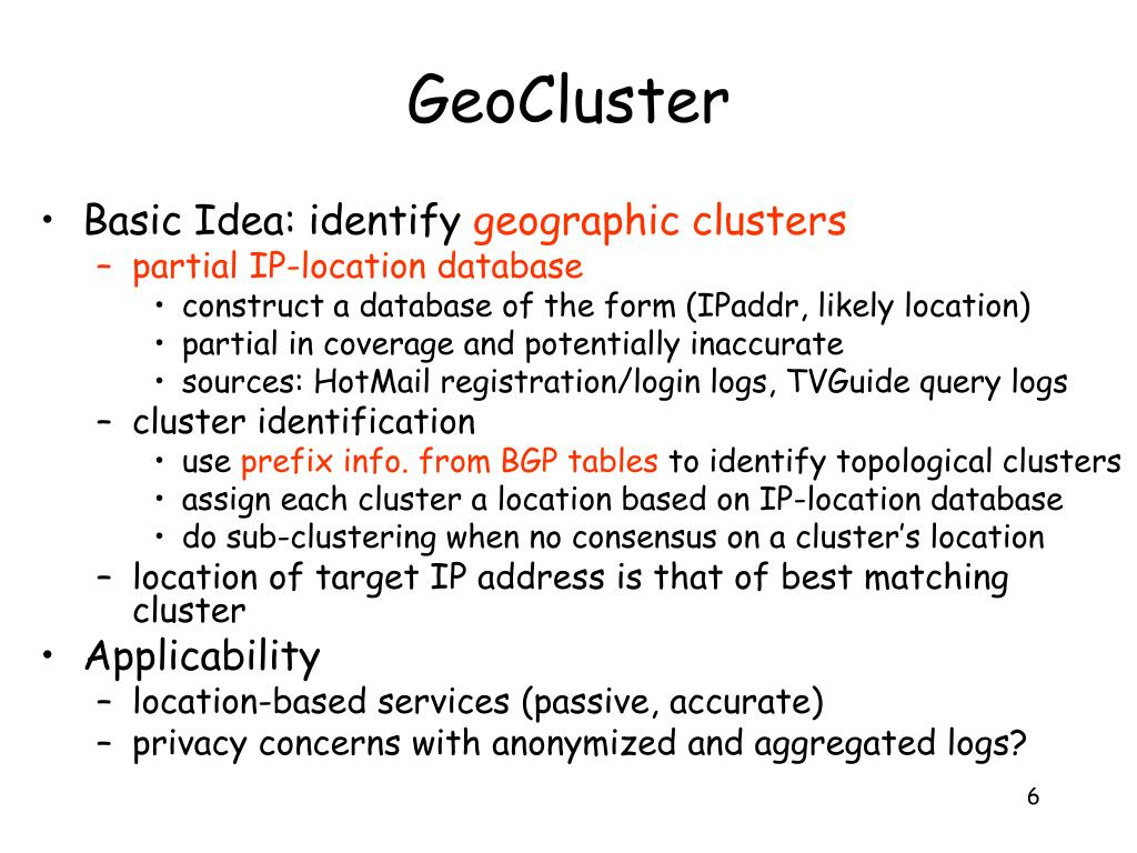 GeoCluster