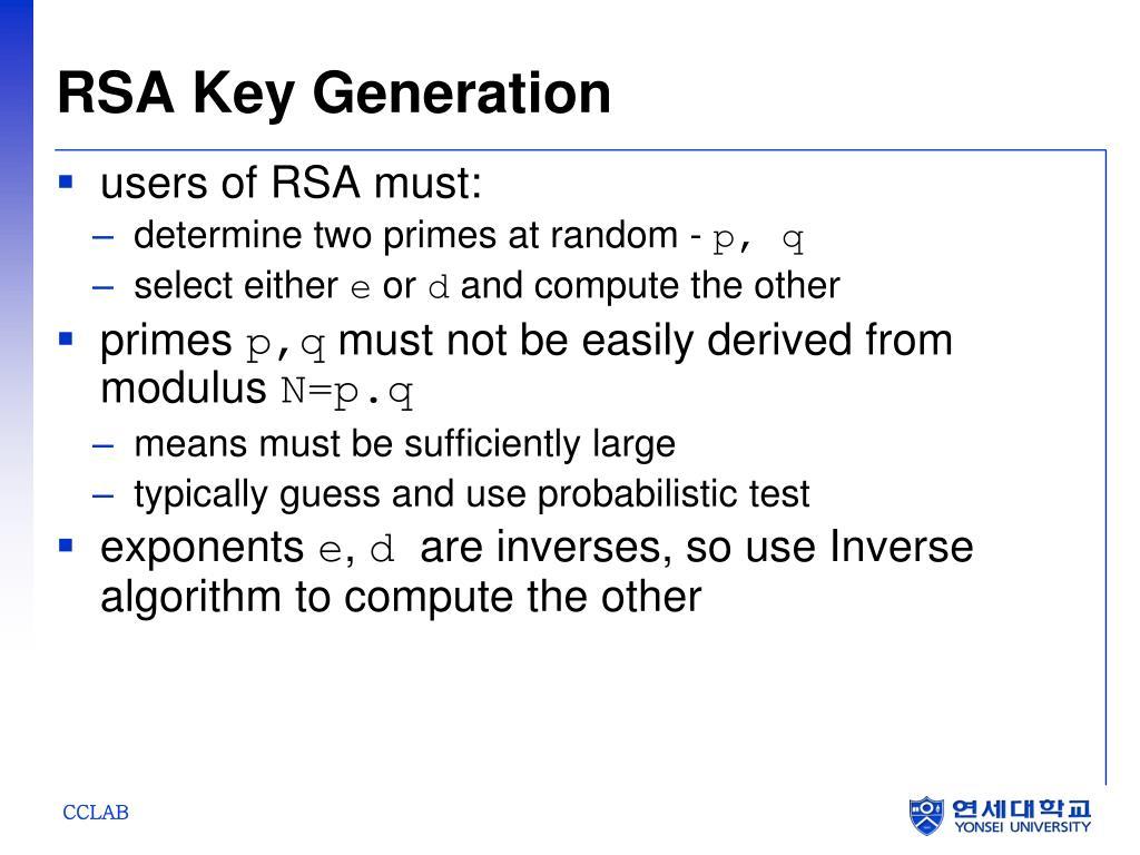 RSA Key Generation