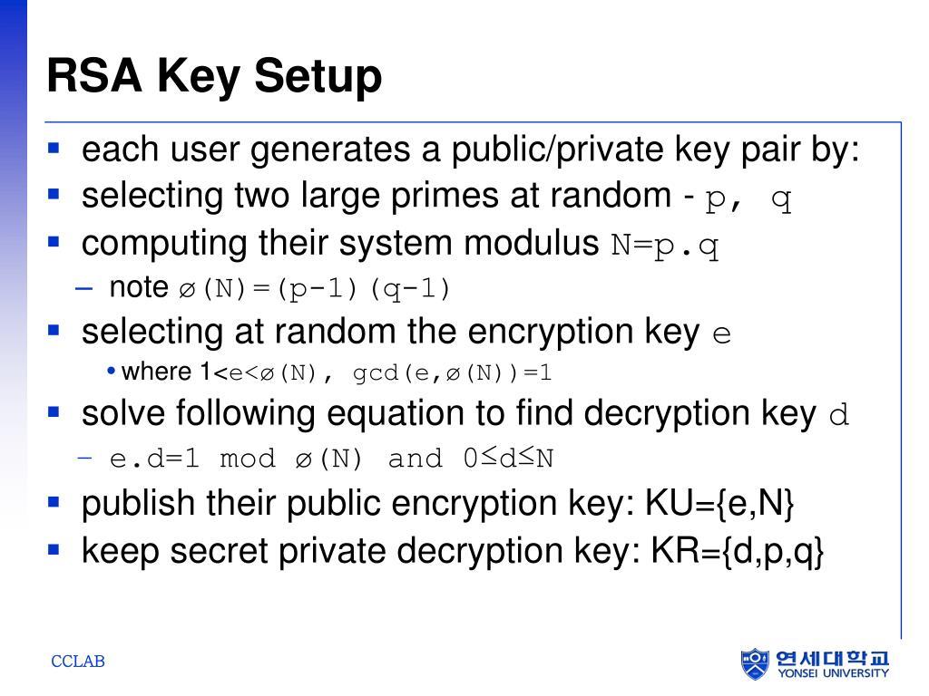 RSA Key Setup