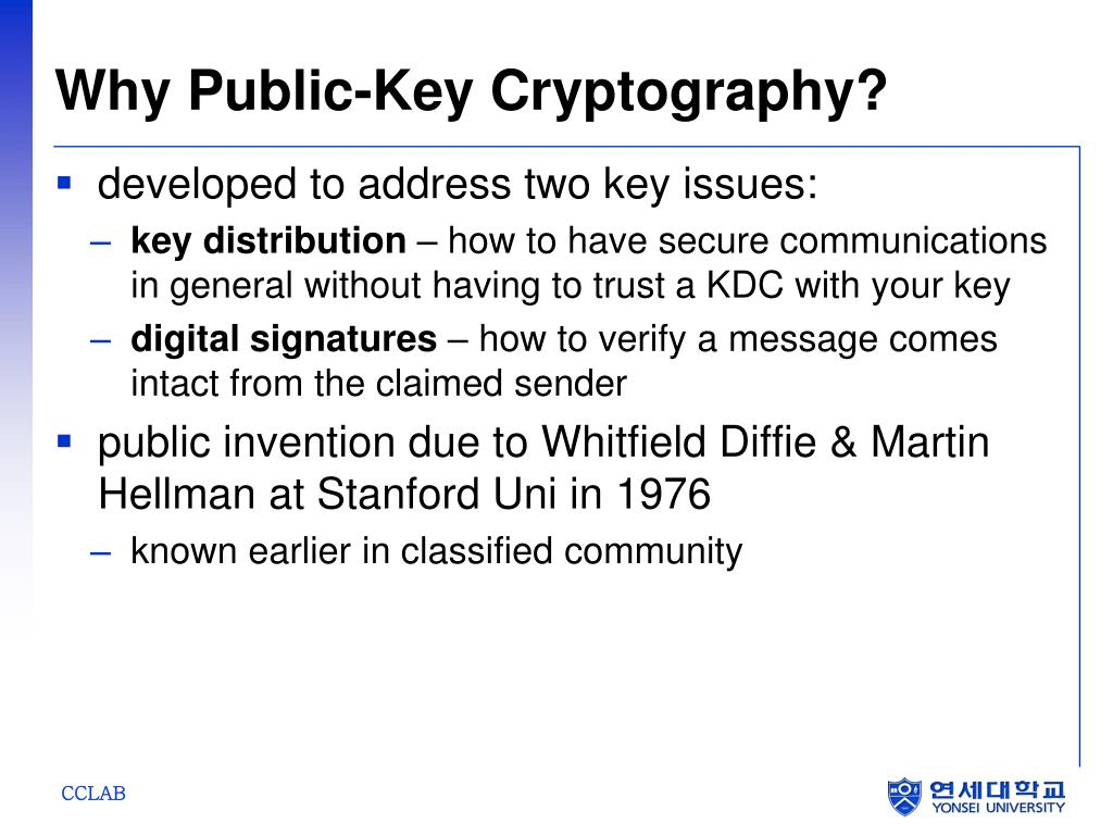 Why Public-Key Cryptography?