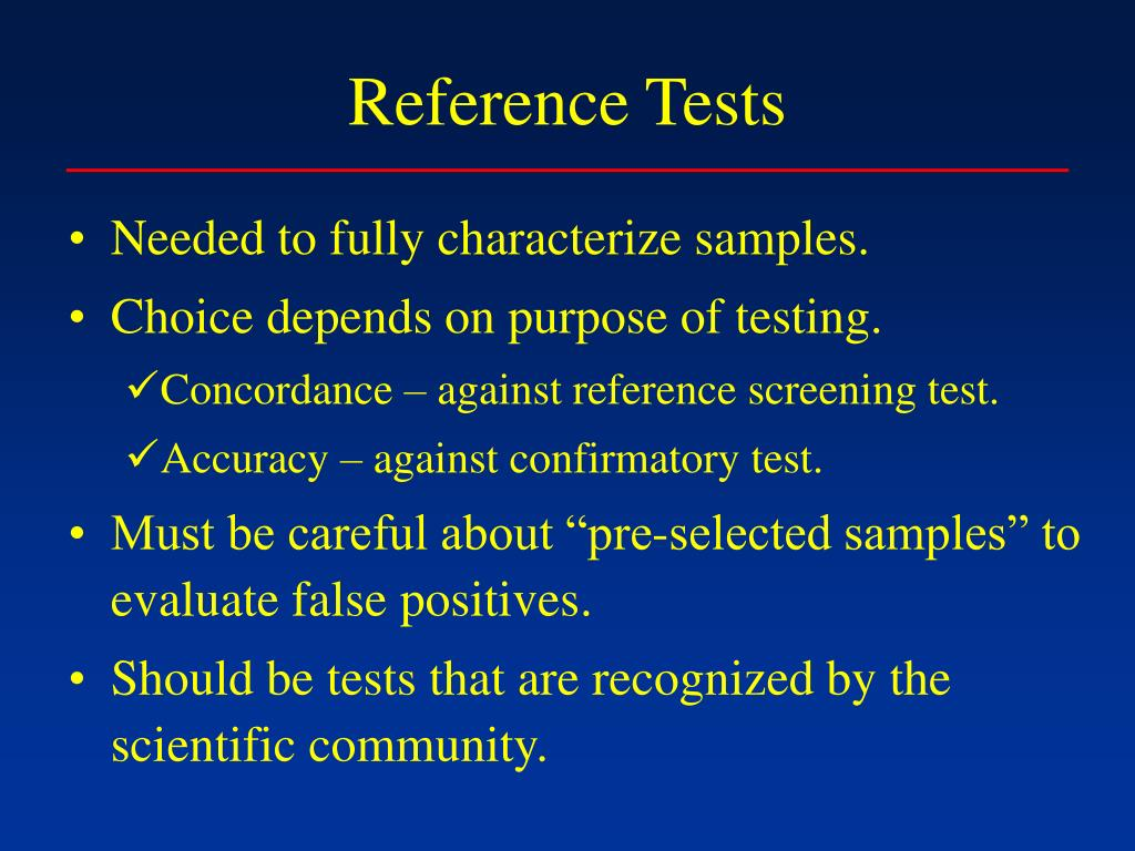 Reference Tests