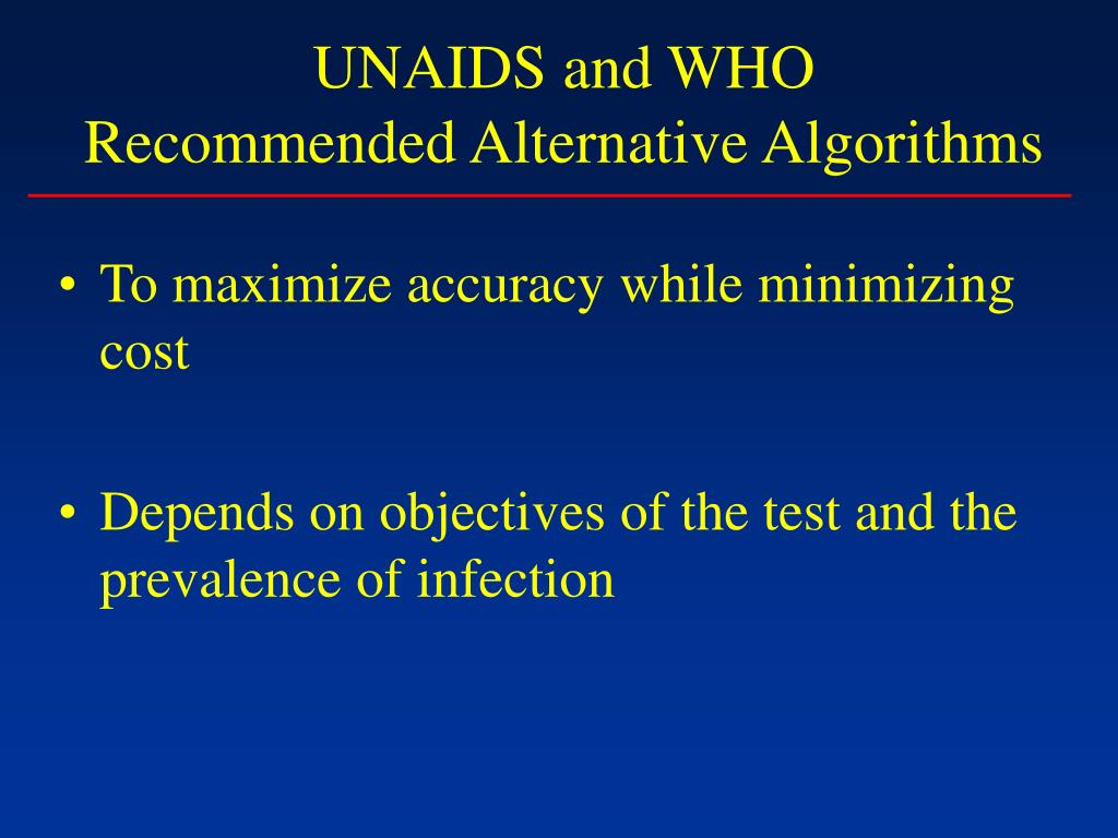 UNAIDS and WHO