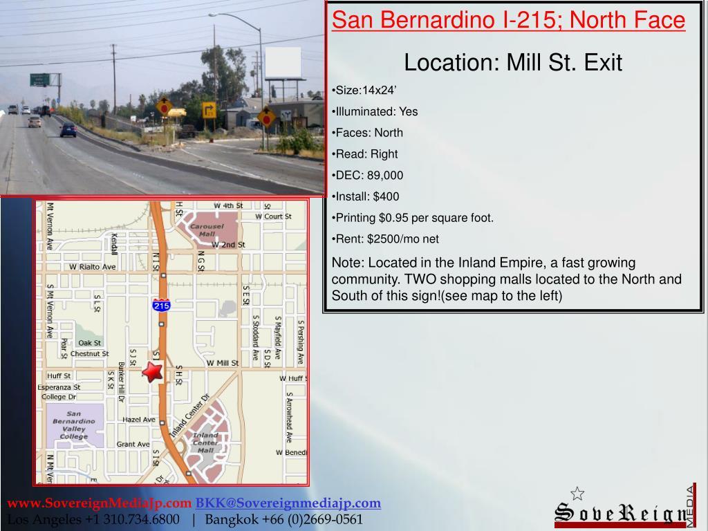 San Bernardino I-215; North Face