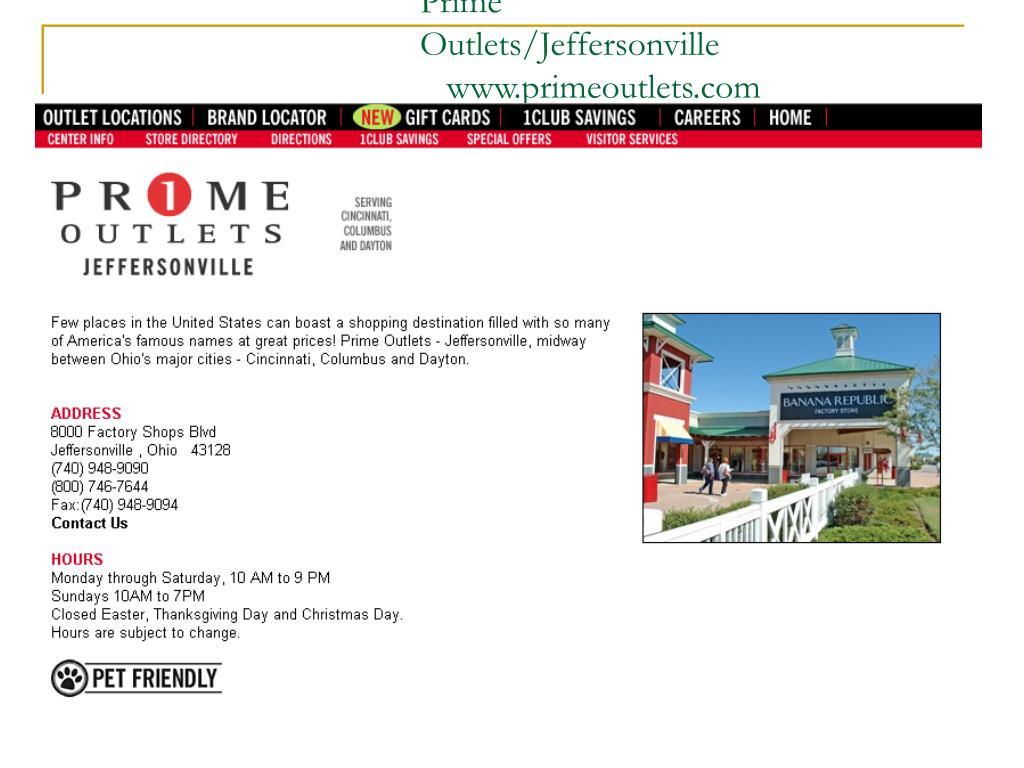 Prime Outlets/Jeffersonville