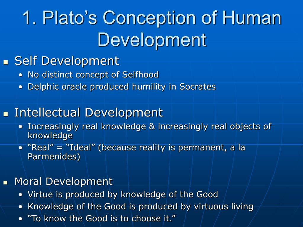 1. Plato's Conception of Human Development