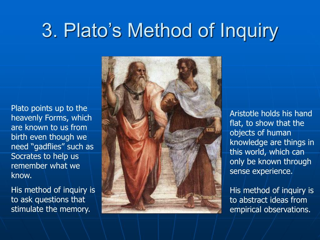 3. Plato's Method of Inquiry