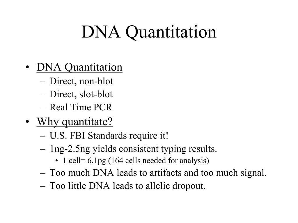 DNA Quantitation