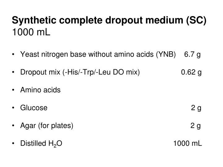 Synthetic complete dropout medium (SC)