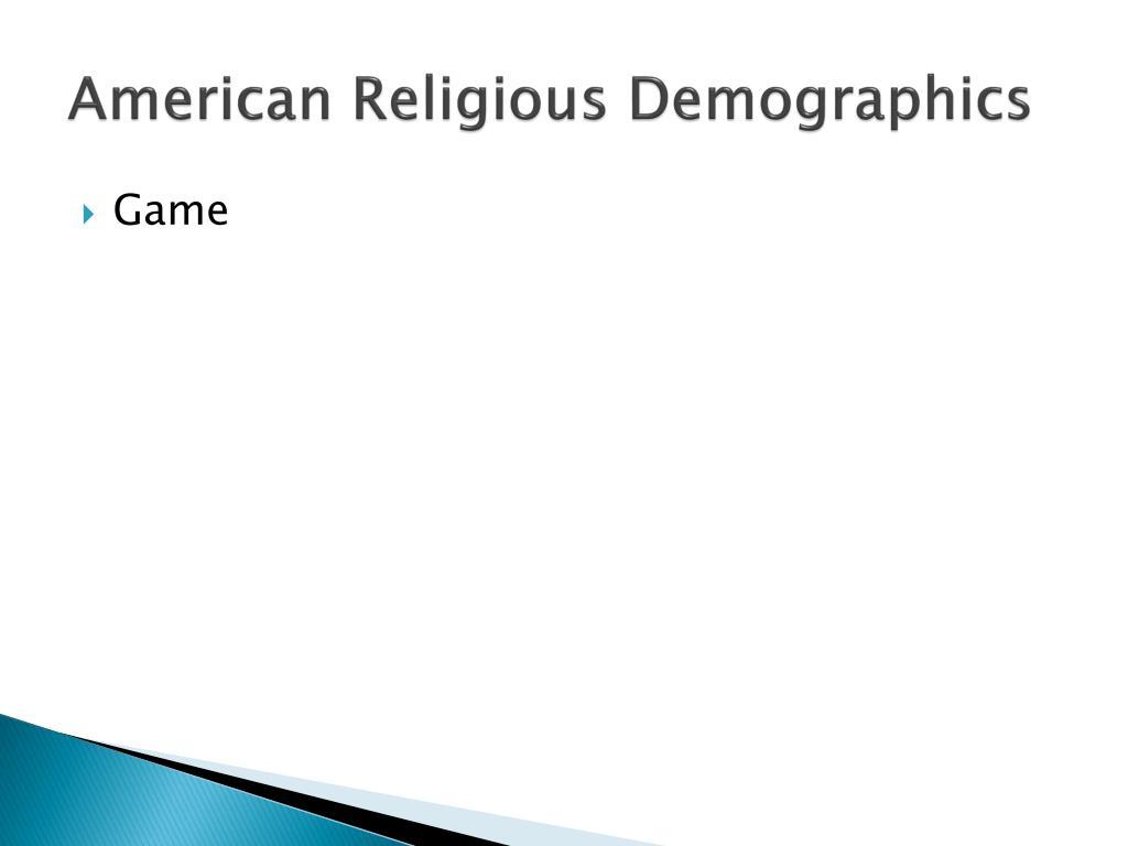 American Religious Demographics