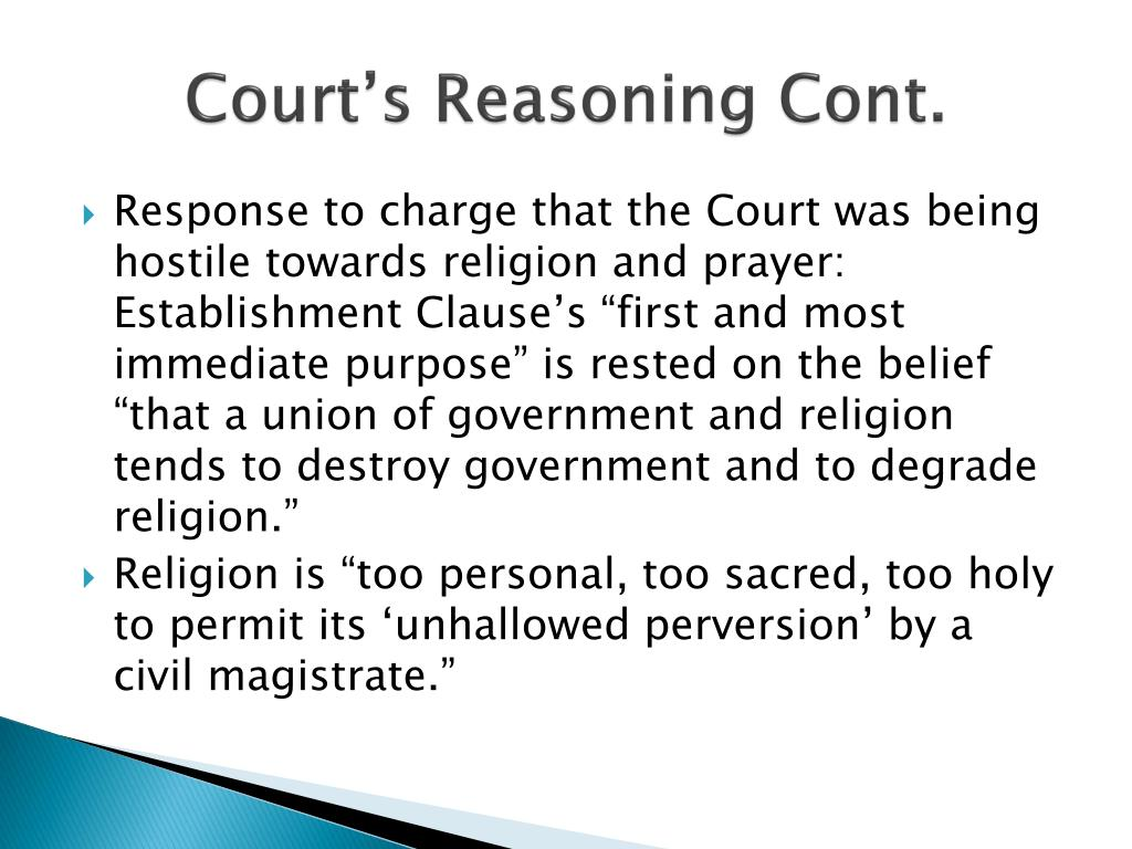 Court's Reasoning Cont.