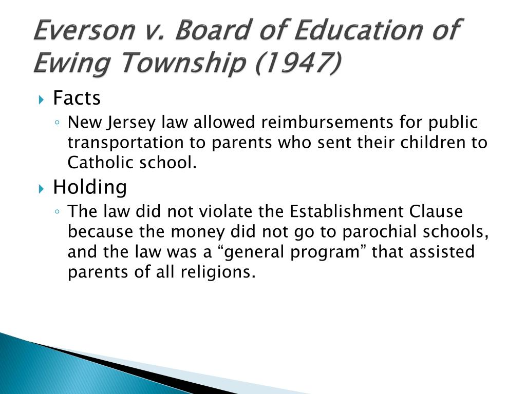 Everson v. Board of Education of Ewing Township (1947)
