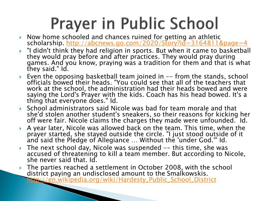 Prayer in Public School
