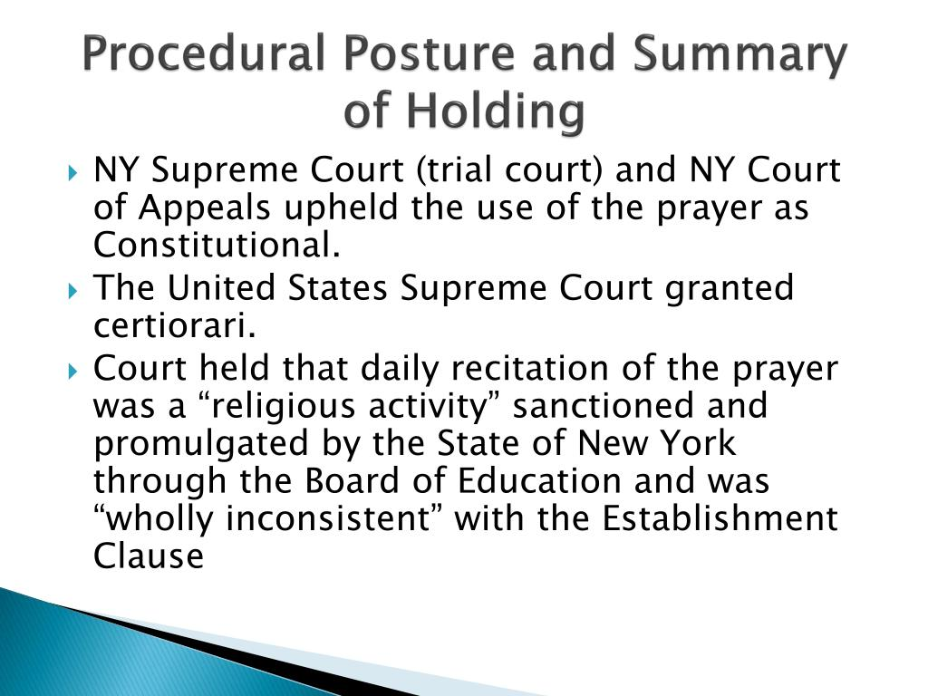Procedural Posture and Summary of Holding