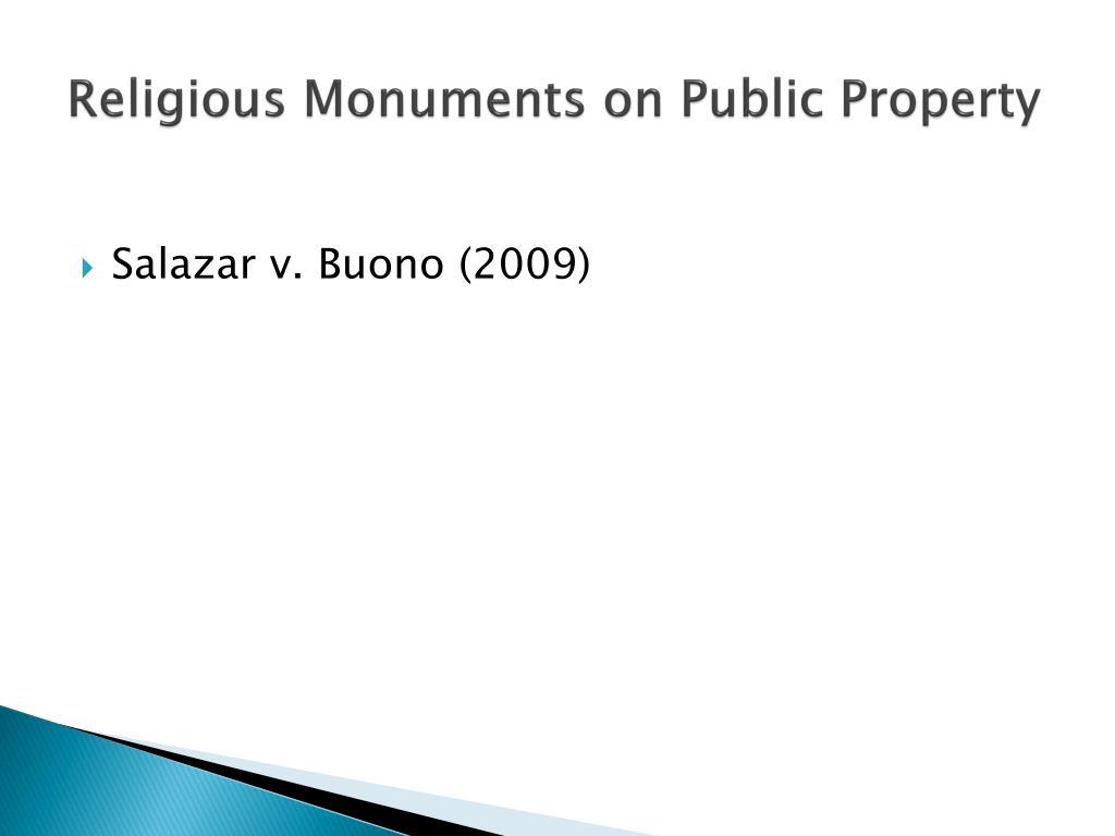 Religious Monuments on Public Property