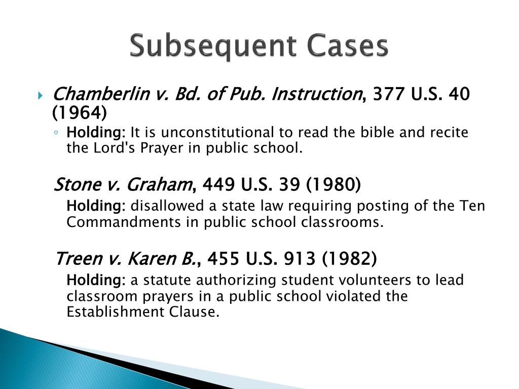 Subsequent Cases