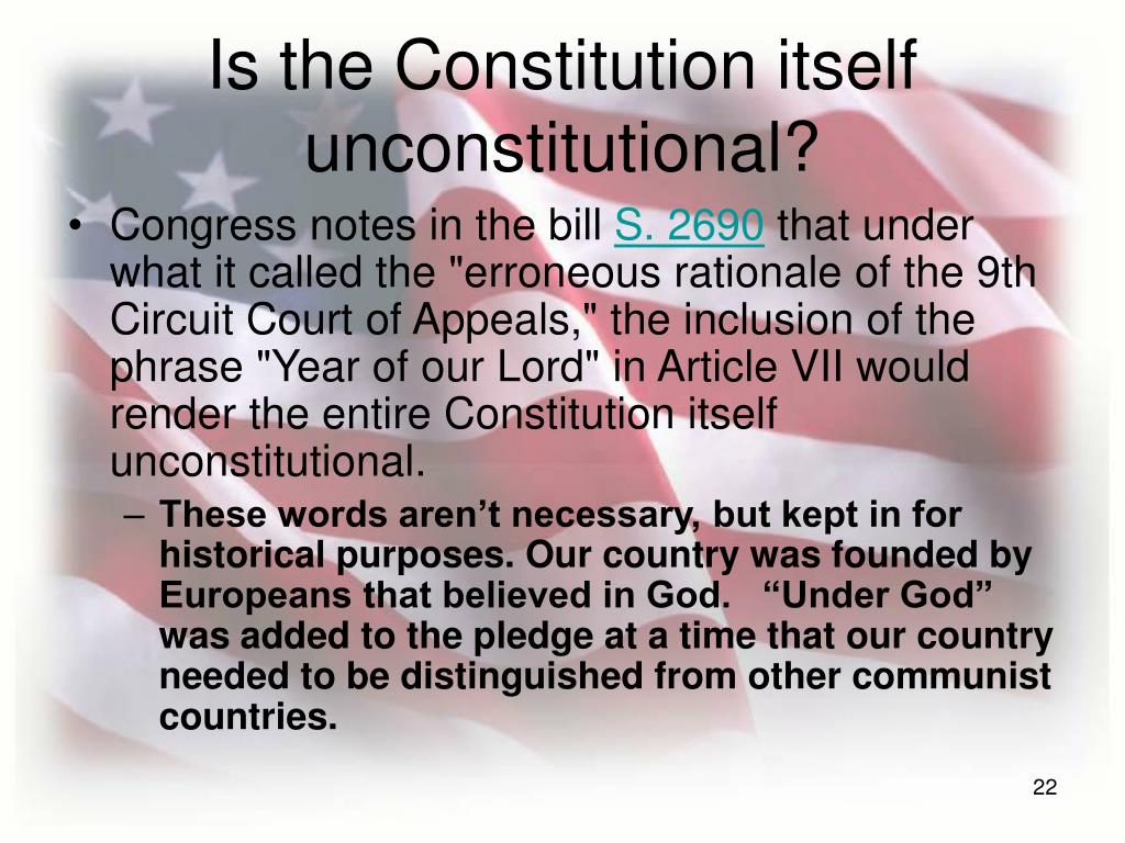 Is the Constitution itself unconstitutional?