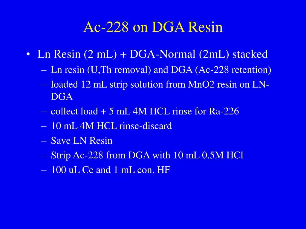 Ac-228 on DGA Resin