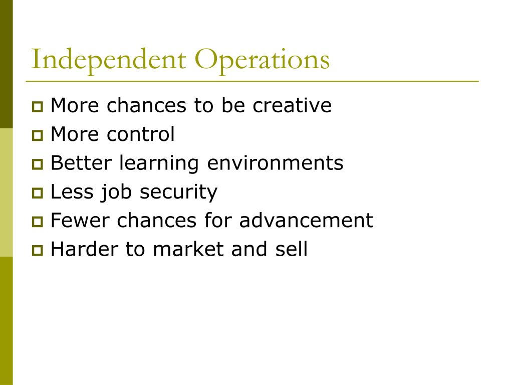 Independent Operations