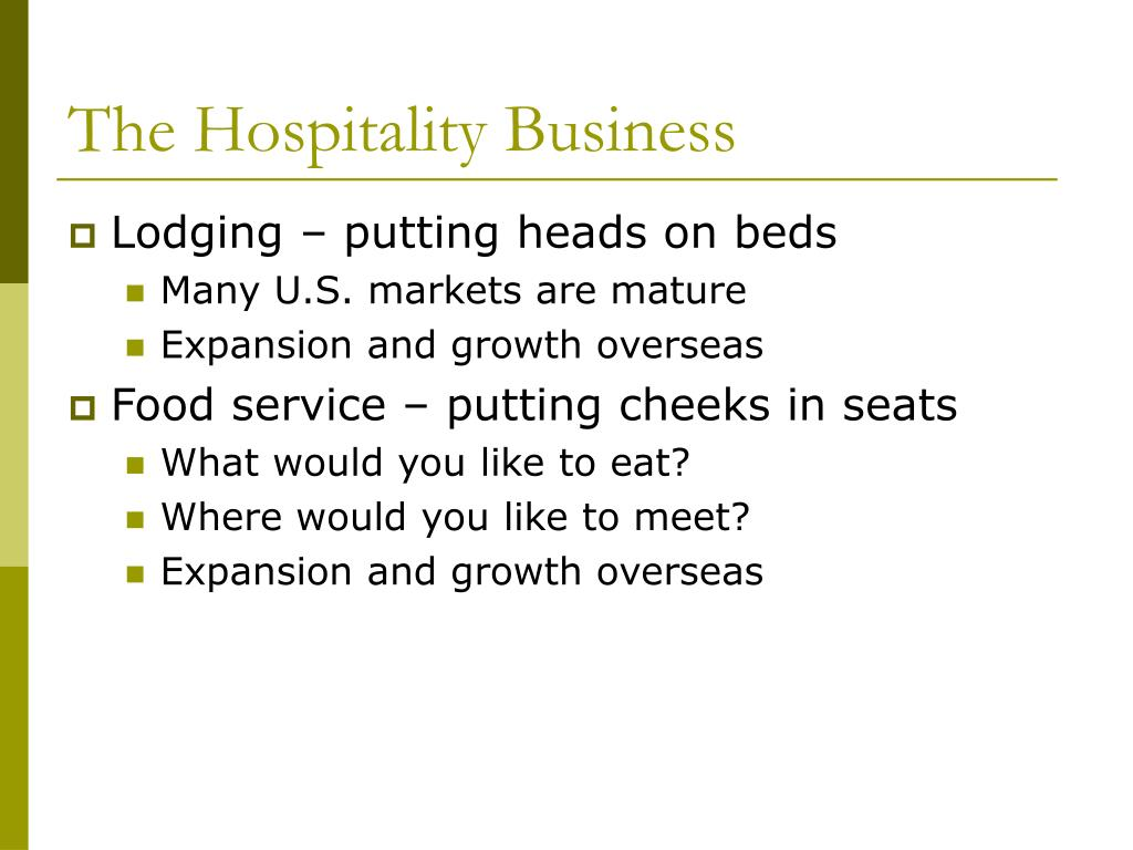 The Hospitality Business