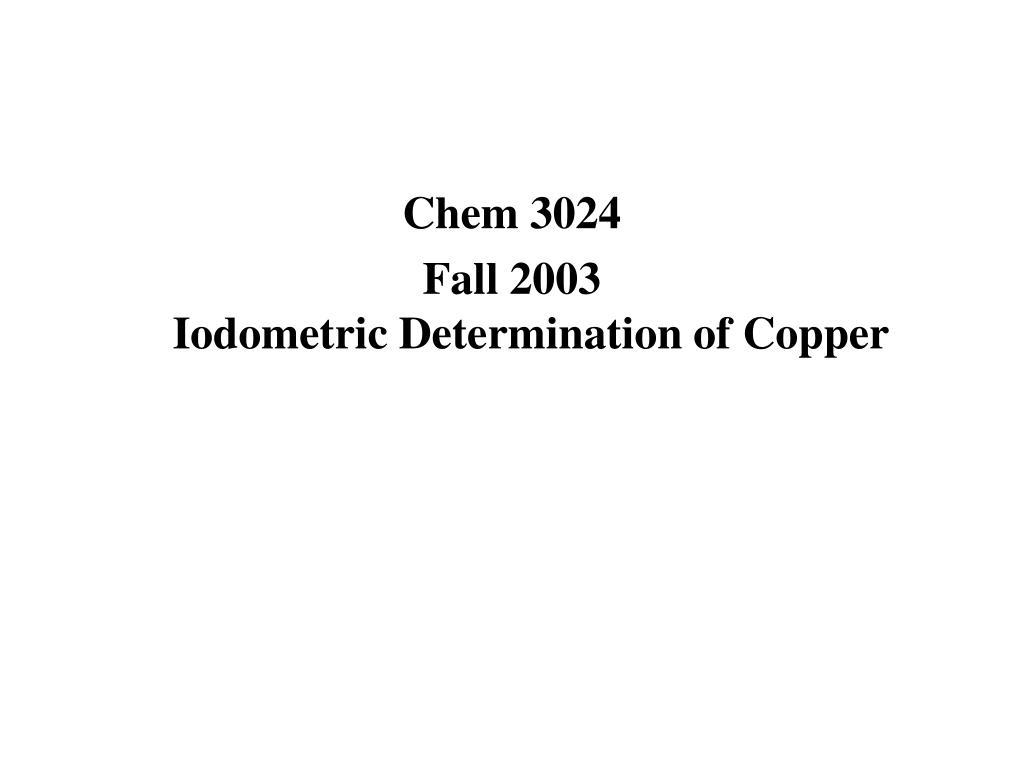 Chem 3024