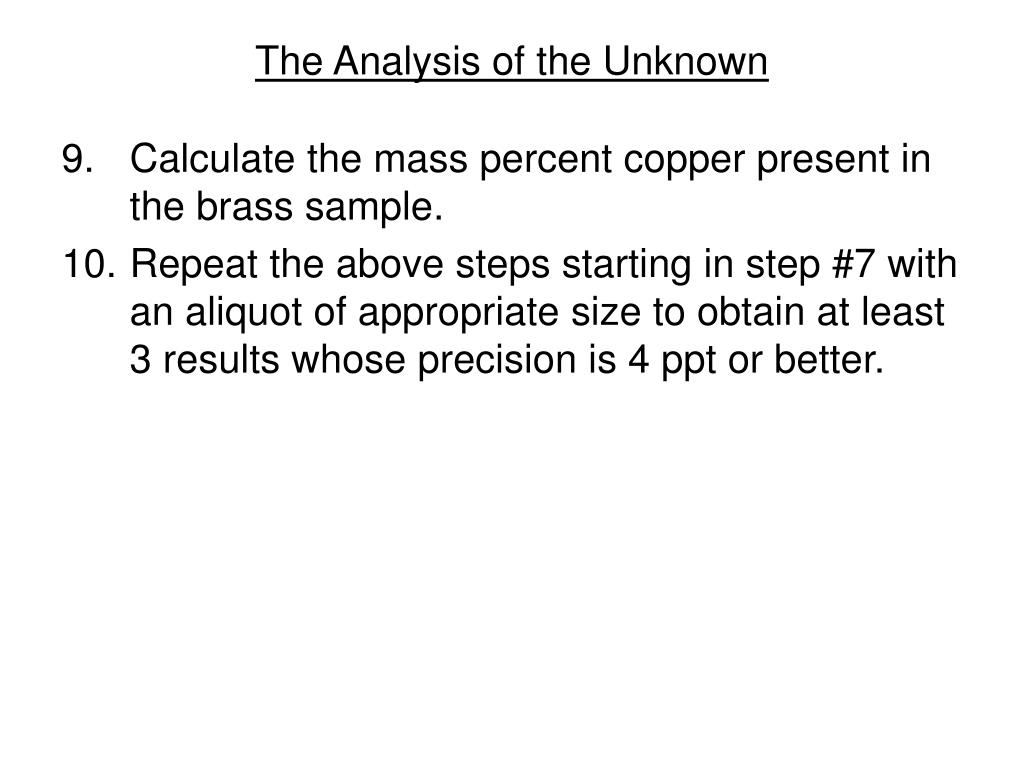 The Analysis of the Unknown