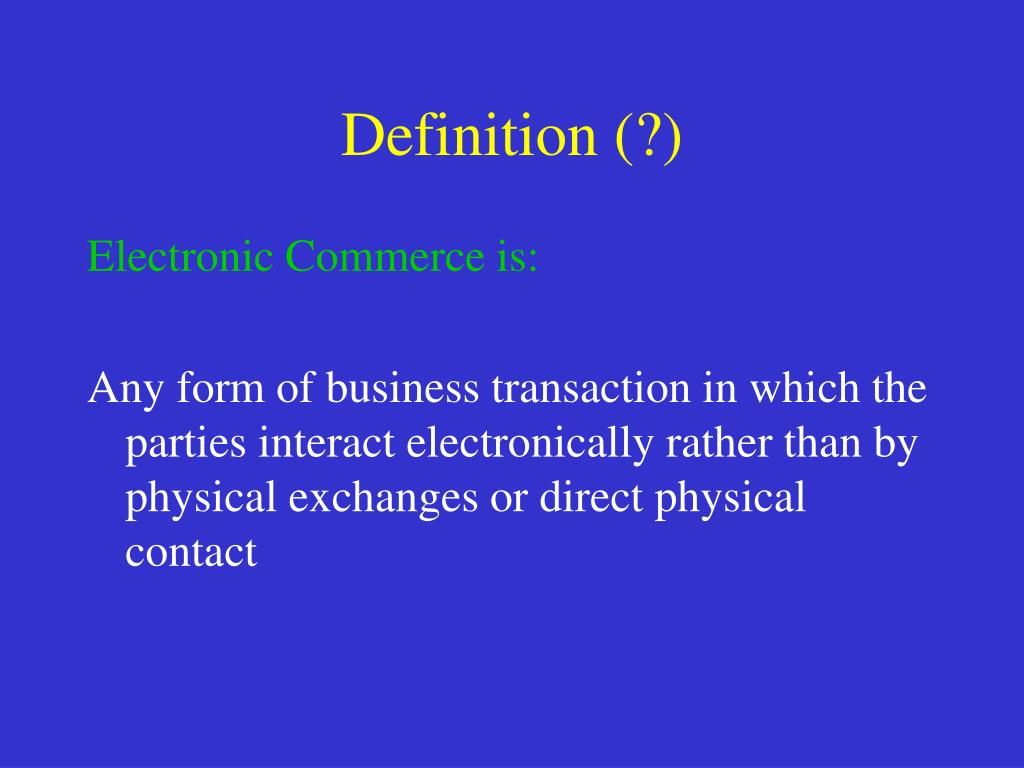 Definition (?)