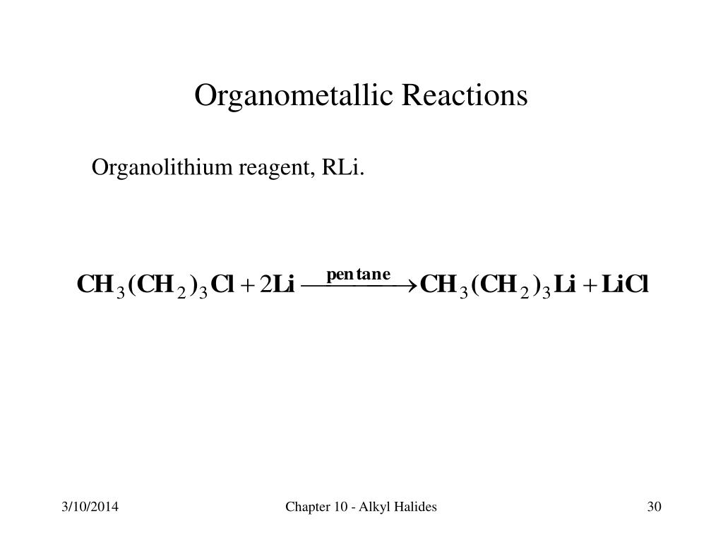 Organometallic Reactions